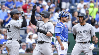 Yankees belt four home runs in 10-1 win against Royals