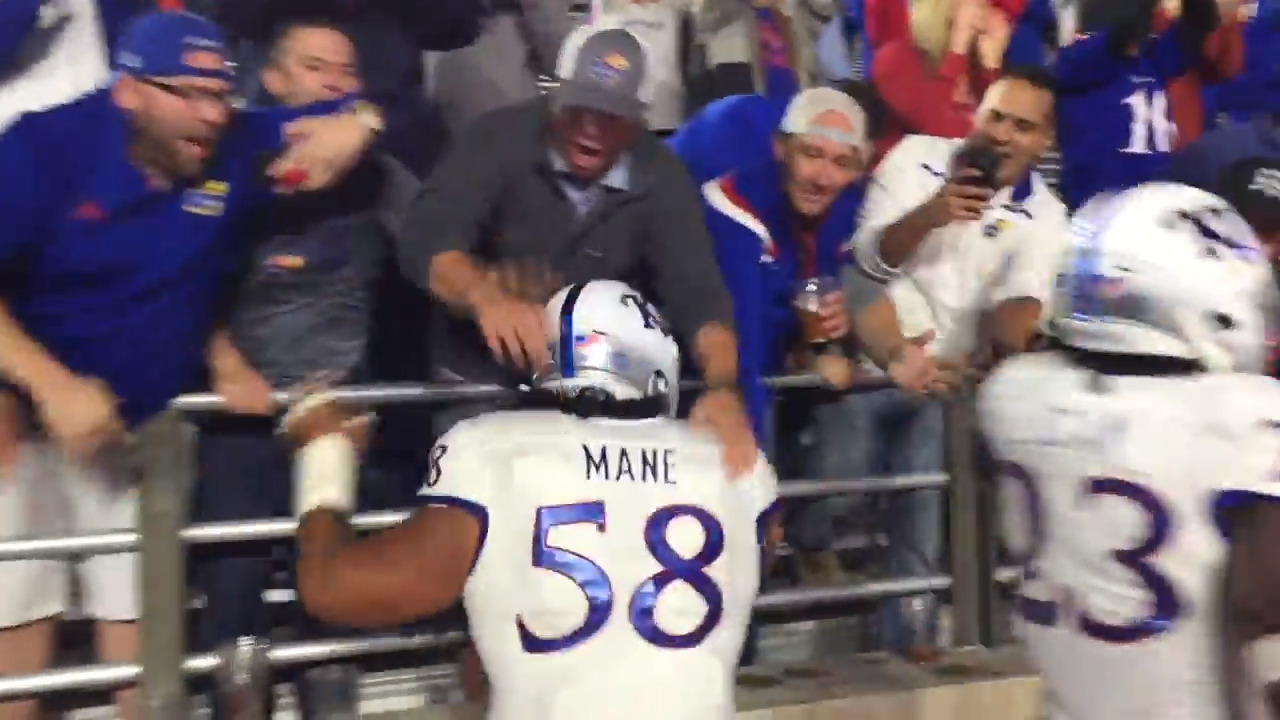 Kansas fans react to football team's blowout win over Boston College
