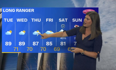 Hot weather continues, with hopes of cooler temps pinned to rain later this week