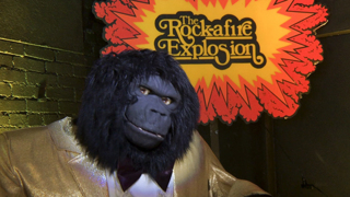 Rock-afire Explosion band from Showbiz Pizza fame now playing at arcade bar