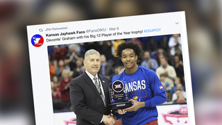 Devonté Graham: Big 12 player of the year and an All-American