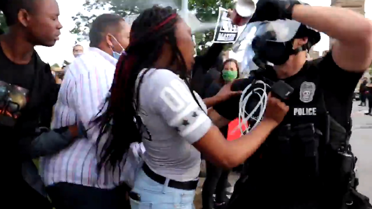 Man, daughter sue KC officers who pepper sprayed them in viral video at Plaza protest