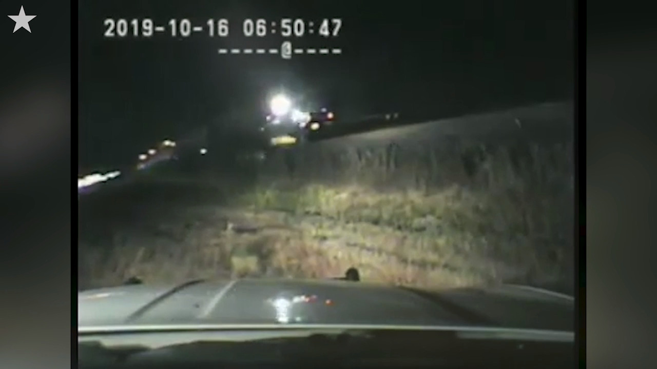 Intense video shows train barreling toward unconscious driver on tracks in Utah