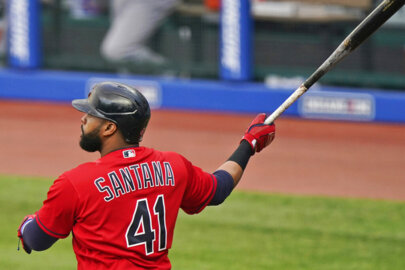 New Royal Carlos Santana on jersey number, patience at plate