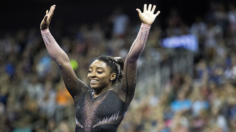 Gymnast Simone Biles clinches record-tying sixth national title with all-around gold