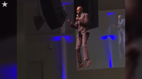Watch Mississippi pastor 'fly' into Sunday service