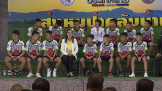 Thai soccer team rescued from cave speaks for first time since ordeal