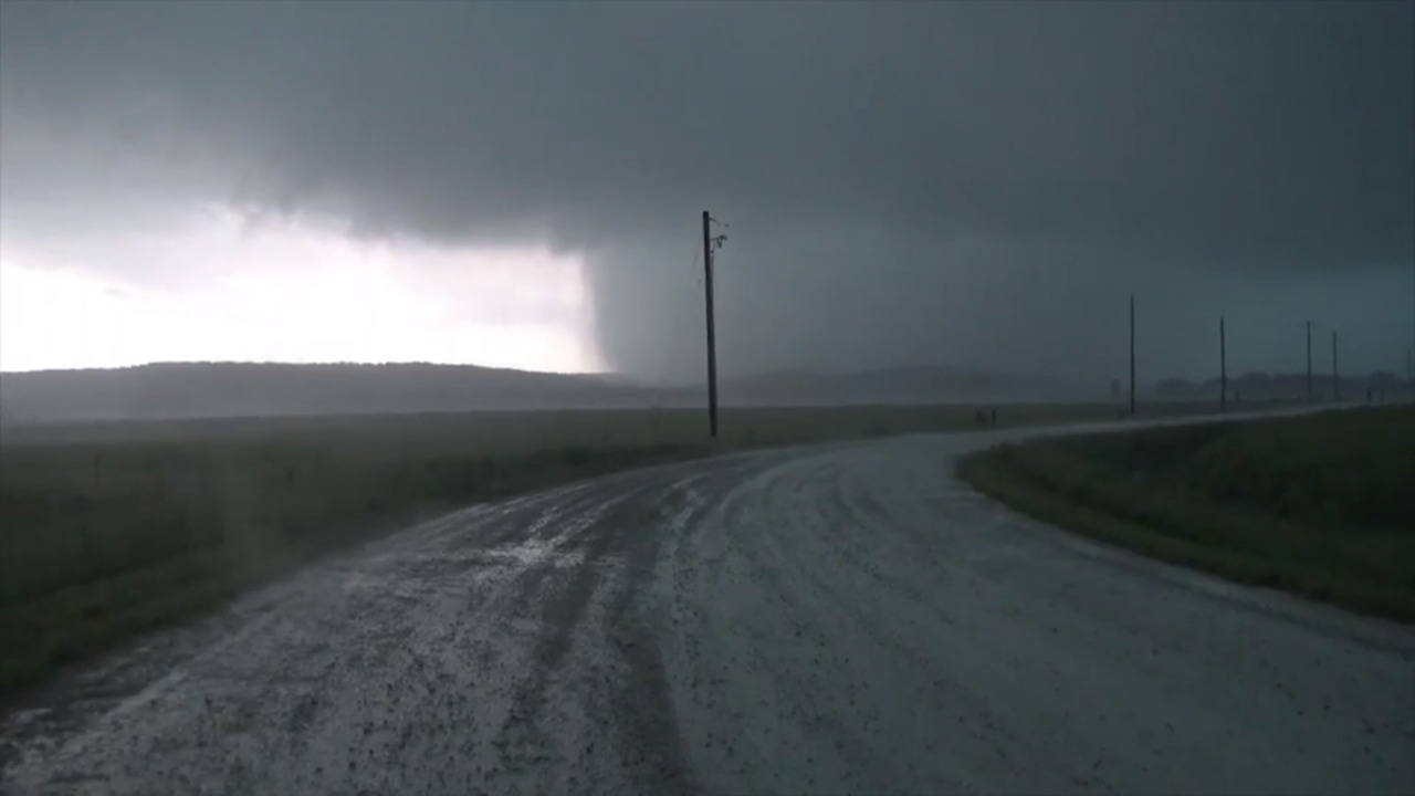 Watch: Storm chaser captures up-close video of tornado near Lawrence, Kansas