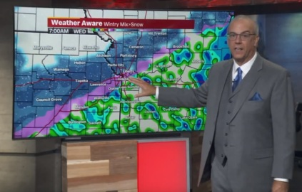 Wintry mix to arrive in KC Wednesday morning with risk for snow  throughout the day