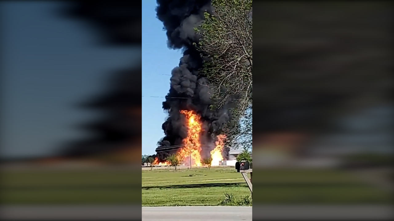 Videos show massive explosion at Missouri propane plant that was visible from space