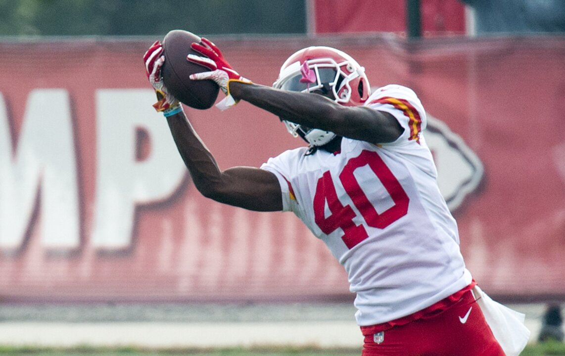 on sale 25942 51166 Chiefs defensive back D'Montre Wade talks about training ...