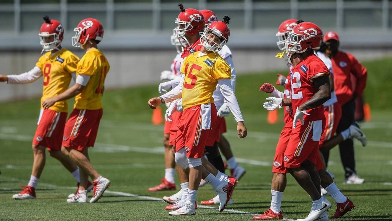9621605bccb Chiefs rookie quarterback Patrick Mahomes  education continues on and off  field