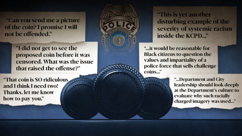 Kansas City police cancel 'offensive' vice squad challenge coin