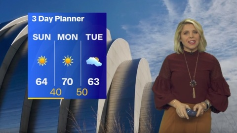 With high of 64, weather Sunday during Chiefs game should be enjoyable