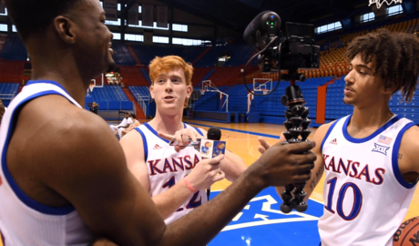 See the lighter side of KU's annual basketball media day