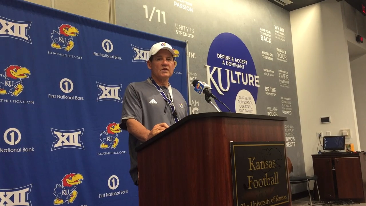 Les Miles predicts this 330-pound freshman will give headaches to KU's opponents