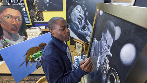 KCK artist struggles to stay insured as disease could rob him of his eyesight