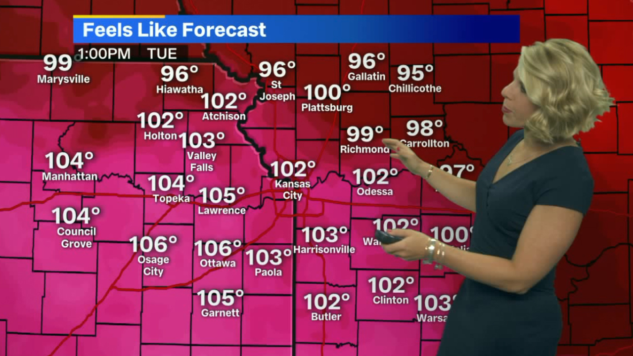 Kansas City braces for another hot, humid day as heat index soars above 100 degrees