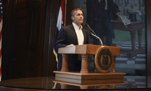 Missouri Gov. Eric Greitens announces his resignation in Jefferson City