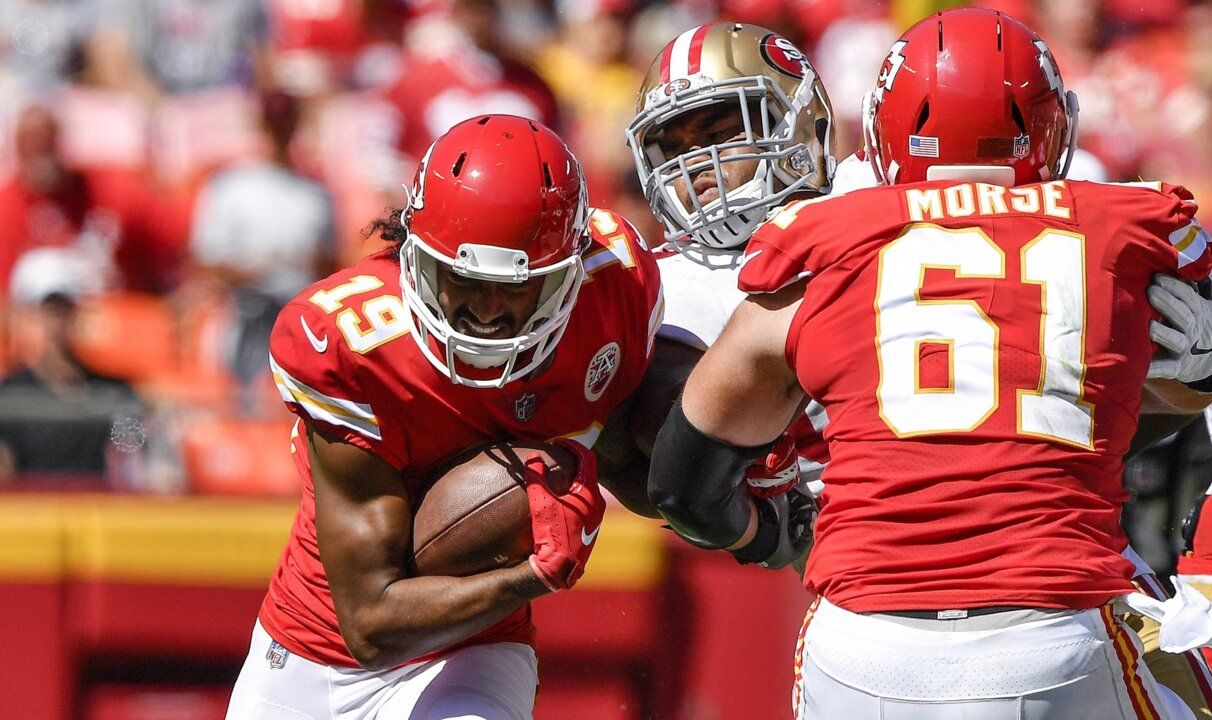 Knee injury to sideline Chiefs wide receiver Marcus Kemp for the season