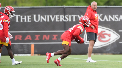 The Chiefs draft pick Cornell Powell takes part in rookie mini camp