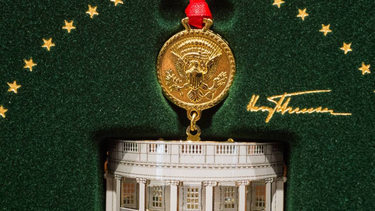 White House Christmas Ornament.Harry Truman 2018 White House Christmas Ornament The