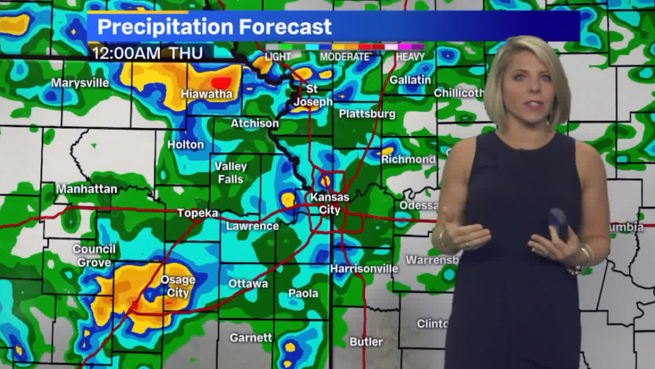 Showers, thunderstorms to linger as Kansas City enters a soggy period