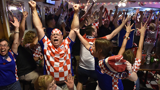 Strawberry Hill soccer fans erupt after Croatia beat Russia in the World Cup