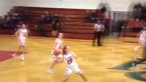 Pembroke Hill's Lucia Wolfe hits buzzer-beating three-quarter court shot