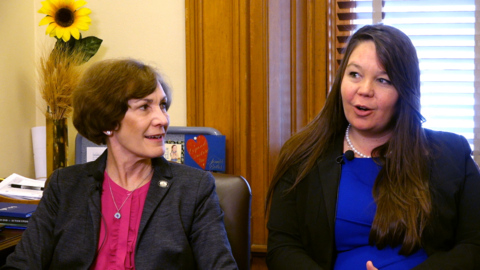Editorial Board's Melinda Henneberger with Sen. Barbara Bollier and Rep. Stephanie Clayton