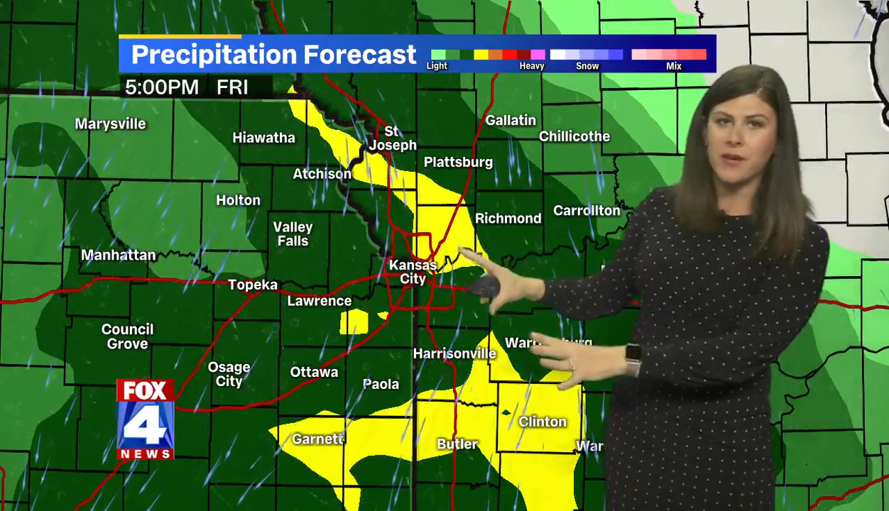 Rain and cool weather in forecast for Kansas City Friday, heading into weekend