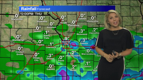 Showers to dawdle in Kansas City area before making way for drier, cooler weather