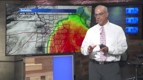 Severe weather risk diminished Monday night following stormy morning, afternoon