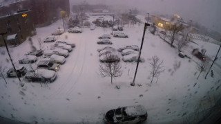 Maine police department shoots timelapse video of snowstorm they named 'Dave'