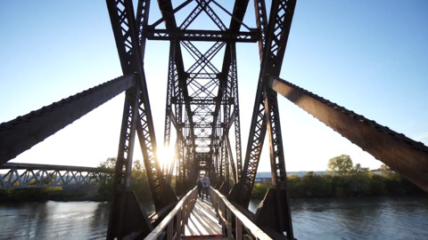 Tour the Rock Island Bridge across Kansas River near Hy-vee Arena