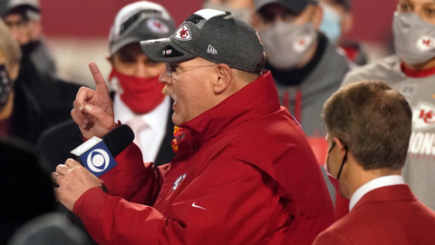 Chiefs' Andy Reid on Mahomes, AFC Championship and facing Tom Brady  in the Super Bowl