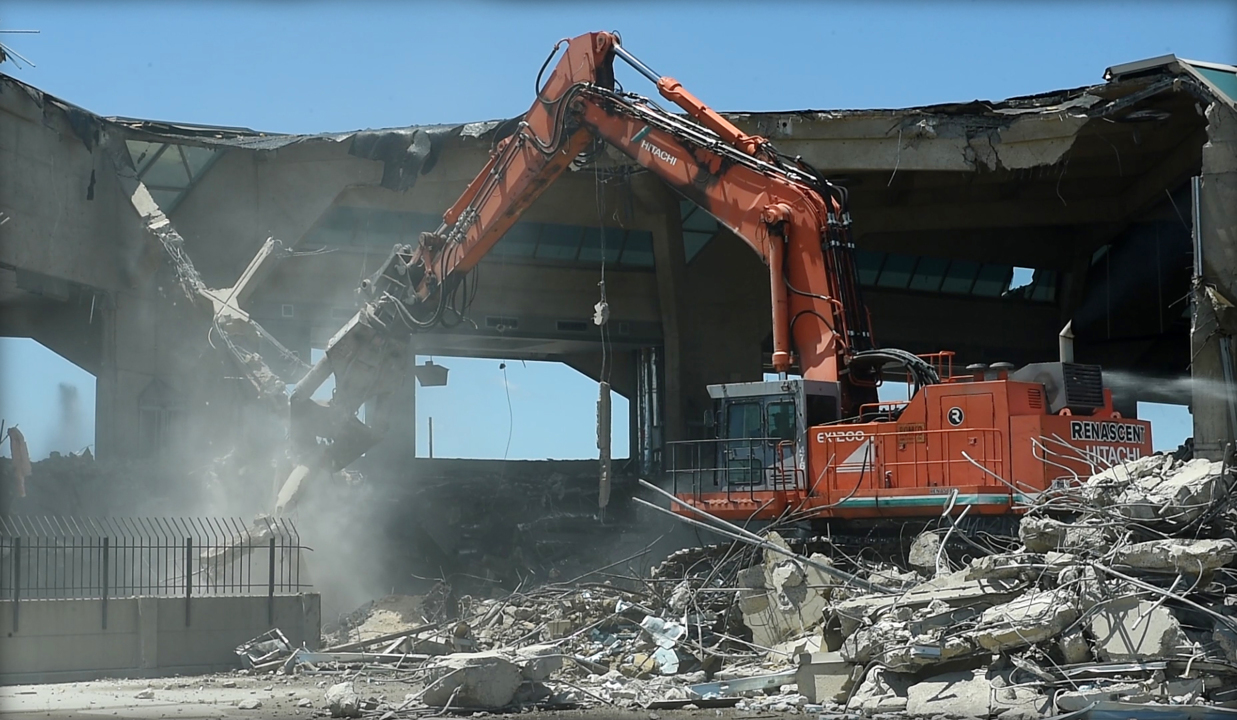Here's an update on the demolition of Terminal A at KCI