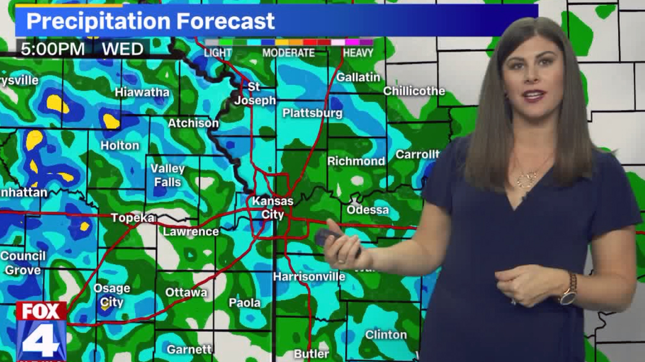 Waves of rain expected to roll though Kansas City area Wednesday night