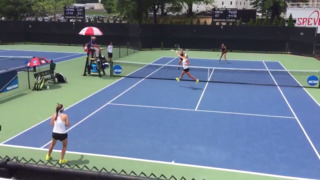 KU defeats UCF in women's doubles play