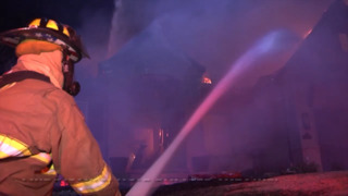 Raw video: Two-alarm fire destroys Overland Park home