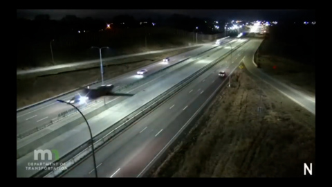 Pilot lands plane among cars on Minnesota interstate — then crashes, video shows