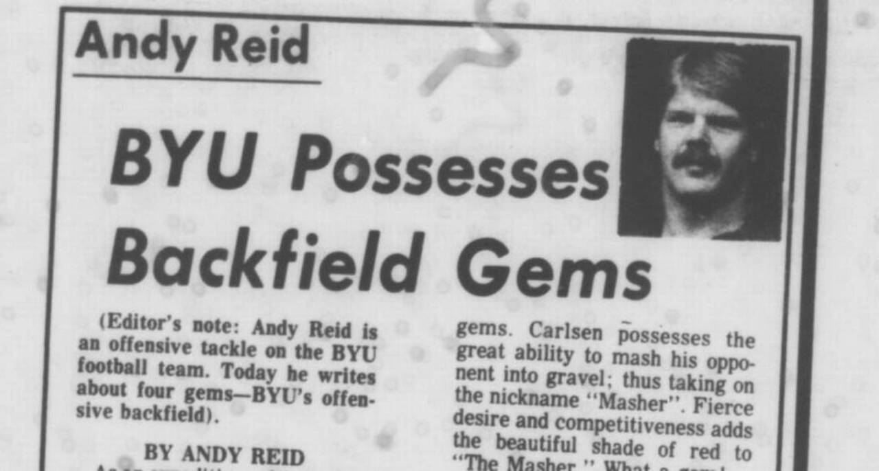 One from The Star's vault: Did you know Chiefs' Reid dreamed of being a sportswriter?