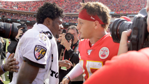 Chiefs take on Baltimore Ravens and quarterback Lamar Jackson during Monday Night Football