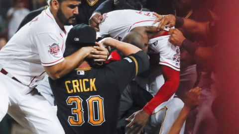 Five amazing photos (and two videos) from Tuesday's Reds-Pirates brawl