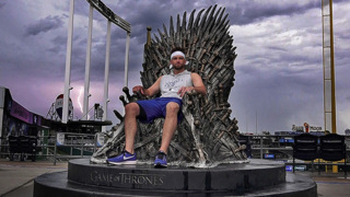 Game of Thrones Night brings out Royals players to sit on throne