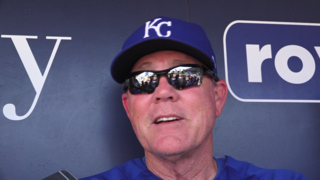 Royals manager Ned Yost takes notice of the Royal wedding