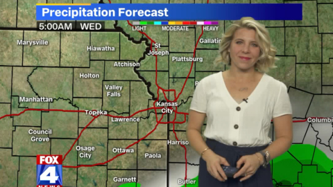 Rain, possible snow forecast in Kansas City as temperatures run hot and cold