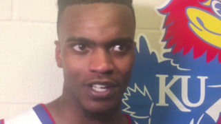 KU's Lagerald Vick on playing in front of family, rebounding