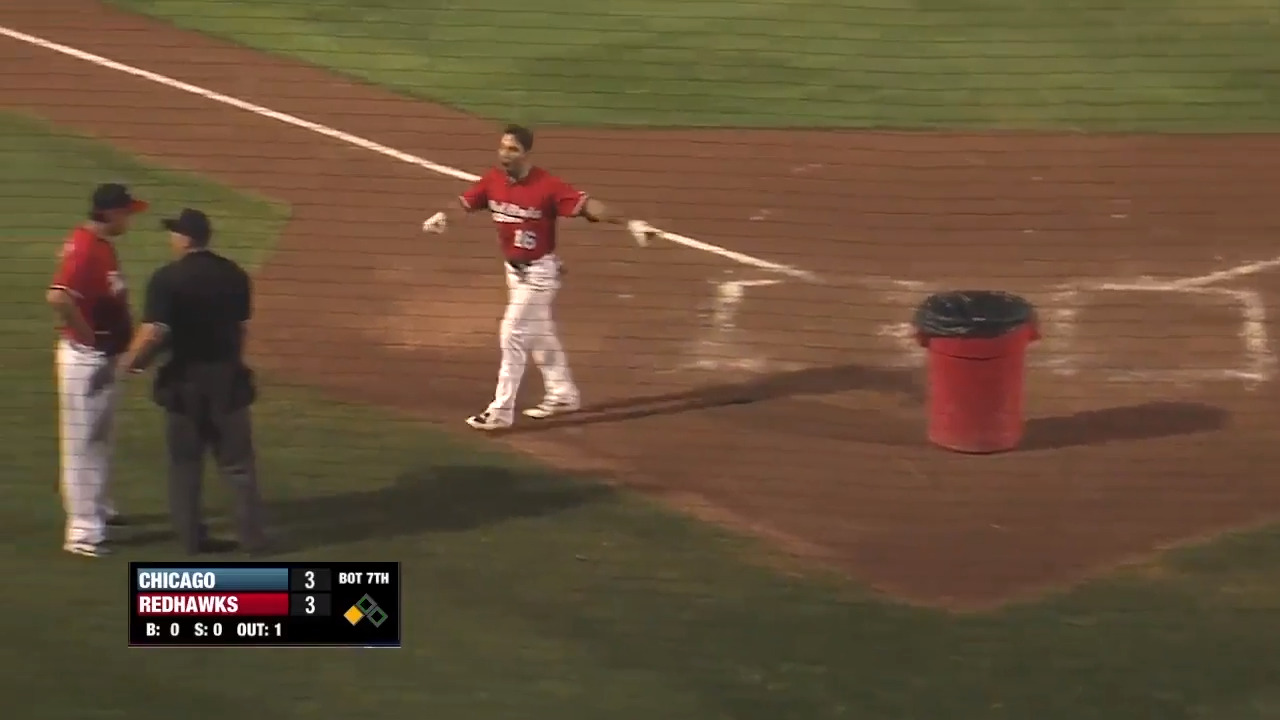 Player puts trashcan behind home plate in heated tirade   The ...