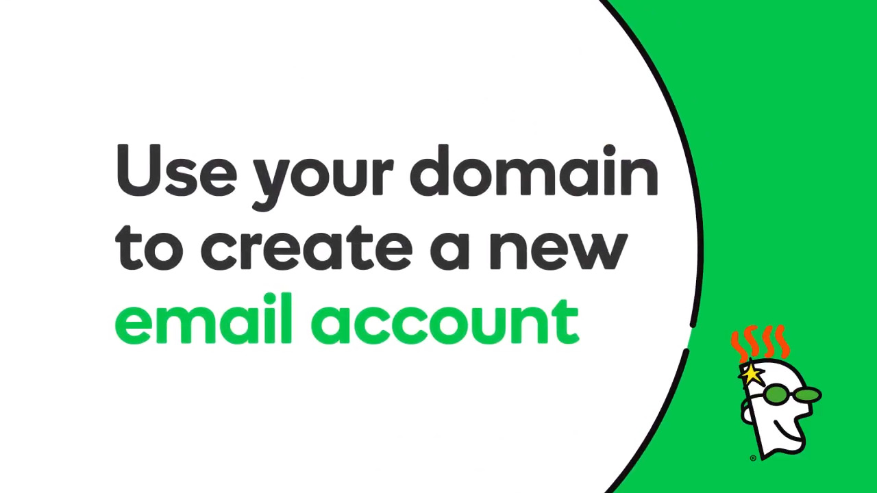 Use your domain to create an email address